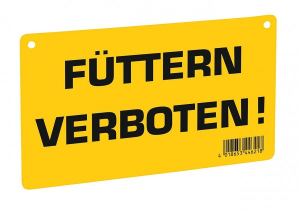 """WAHL-Hausmarke Hinweisschild """"Füttern verboten!"""""""