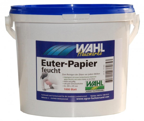 WAHL-Hausmarke Eutertücher feucht, 1000 Blatt im Eimer
