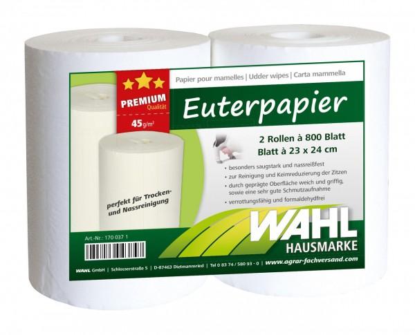 WAHL-Hausmarke Euterpapier 2 Rollen à 800 Blatt PREMIUM
