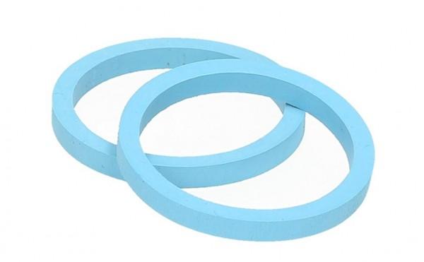 Hiko Ventildichtung Gummi blau 4 mm