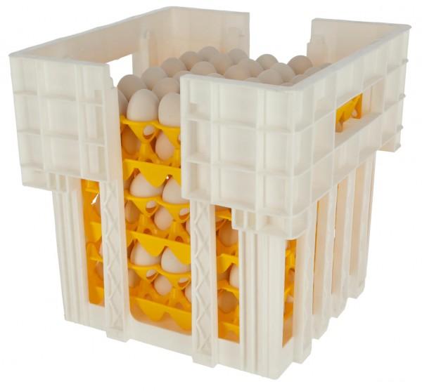 Halterung und Stapelung für Eierhorde