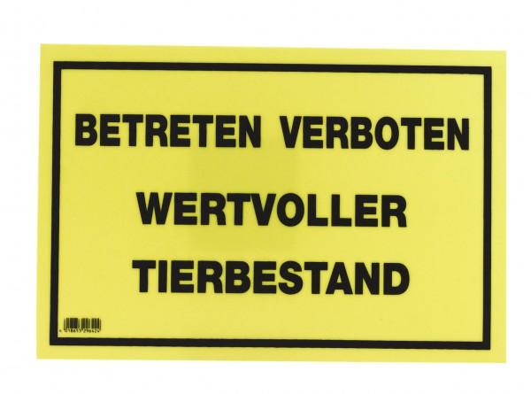 "WAHL-Hausmarke Hinweisschild ""Wertvoller Tierbestand"""