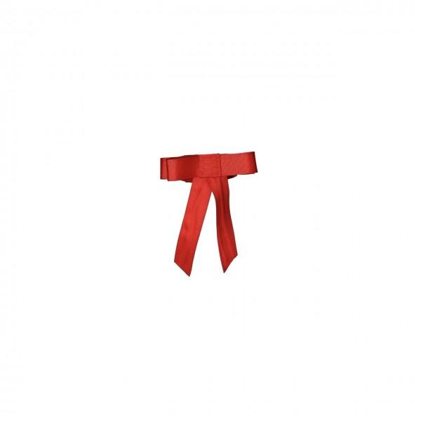 Rote Warnschleife mit Klett