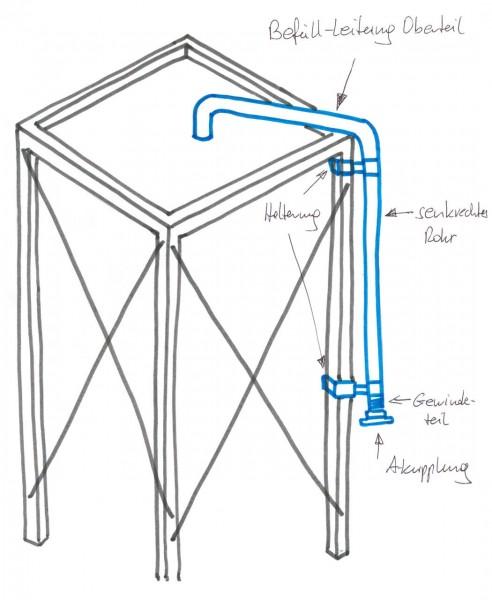 BEFÜLLLEITUNG für Gestell 420 cm