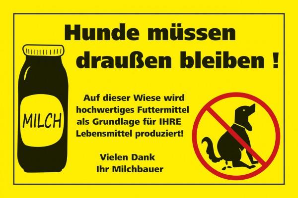 "WAHL-Hausmarke Hinweisschild ""Gegen Hundekot..."""
