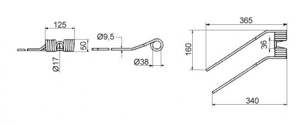 Zinken - Niemeyer für HR-Modelle rechts