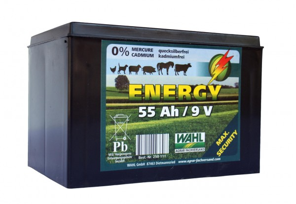 WAHL-Hausmarke Weidezaunbatterie 9 V - 55 Ah
