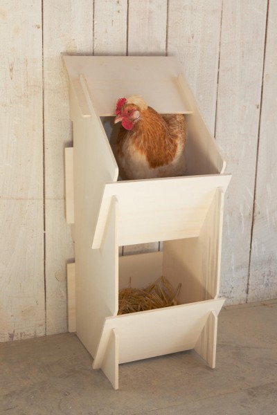 Kerbl Legenest aus Holz für Hühner