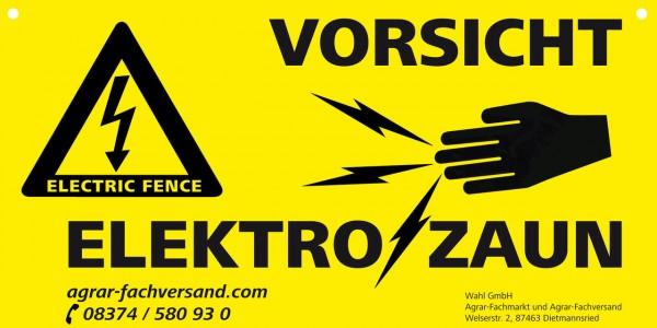 """WAHL-Hausmarke Warnschild """"Vorsicht Elektrozaun"""""""