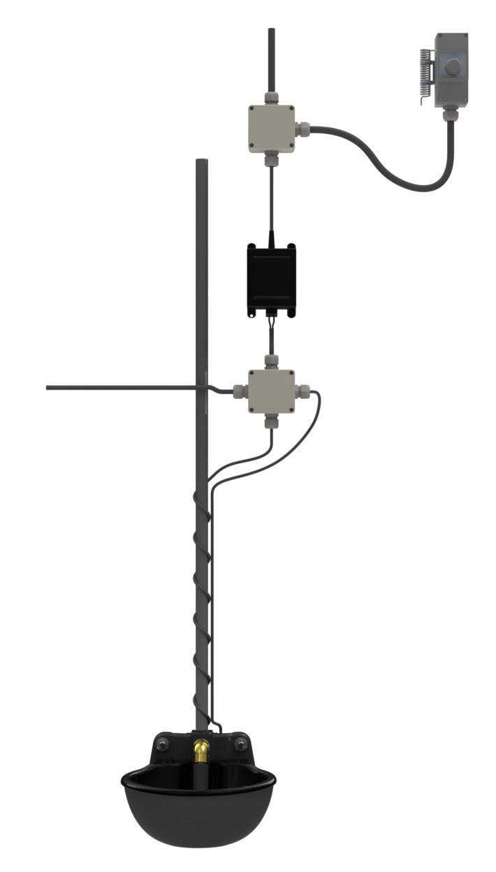 Thermostat 250 cm Frostschutz KERBL Heizstab für Tränkebecken 24 V inkl